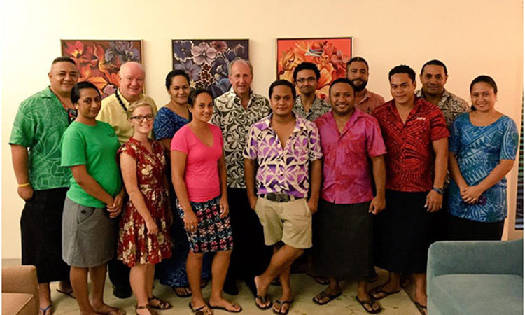 My first reception as Ambassador to Samoa was a meet and greet with members of U.S. Exchange Programs. Photo credit: Department of State.