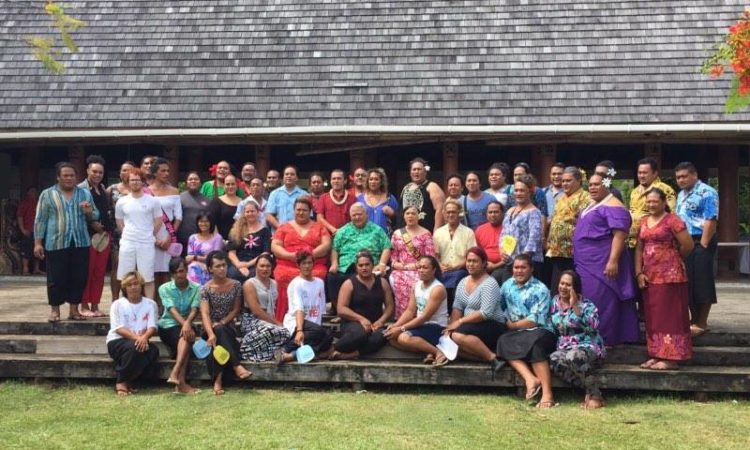 CDA Angelina Wilkinson with the Samoa Fa'afafine Association members. Photo credit: U.S. State Department.