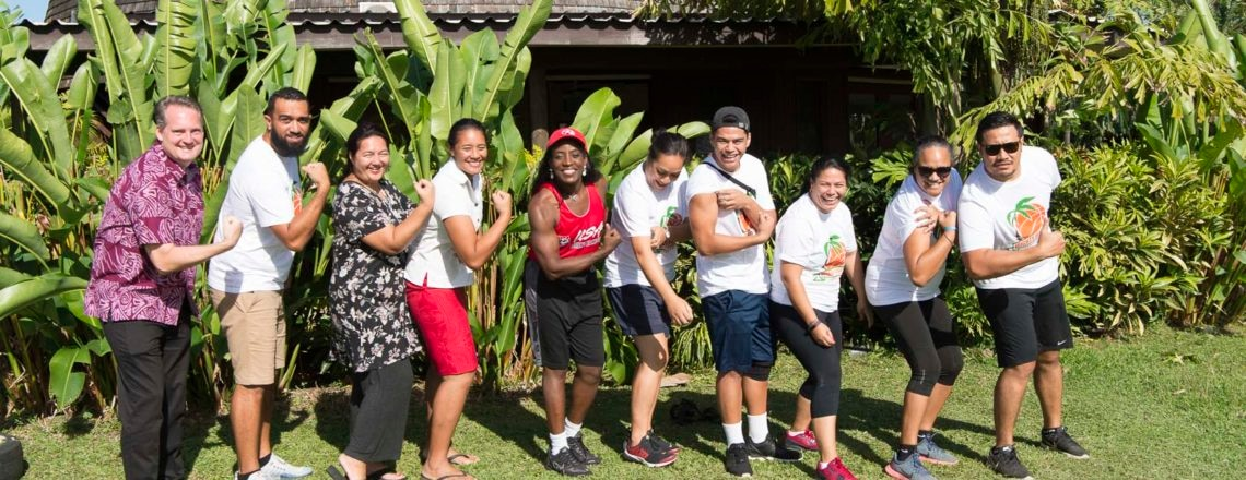 USA Basketball Female of the Year, Ms. Ruthie Bolton, visits Samoa
