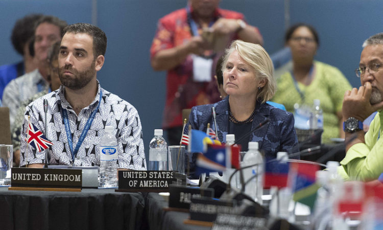 Acting Assistant Secretary for East Asia and the Pacific Susan Thornton at the PIF 2017. Photo credit: U.S. Department of State.